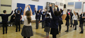 Northern Ballet show Year 5 how to 'pas de chat'