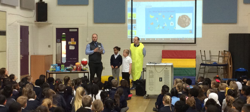 Fairtrade Fortnight Assembly with David and Glen from the Co-op