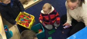 Stay and Play session in Reception.